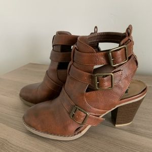 Report Brown Booties Size 7